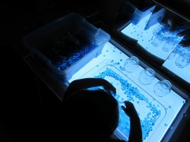 Water beads on the Light Panel