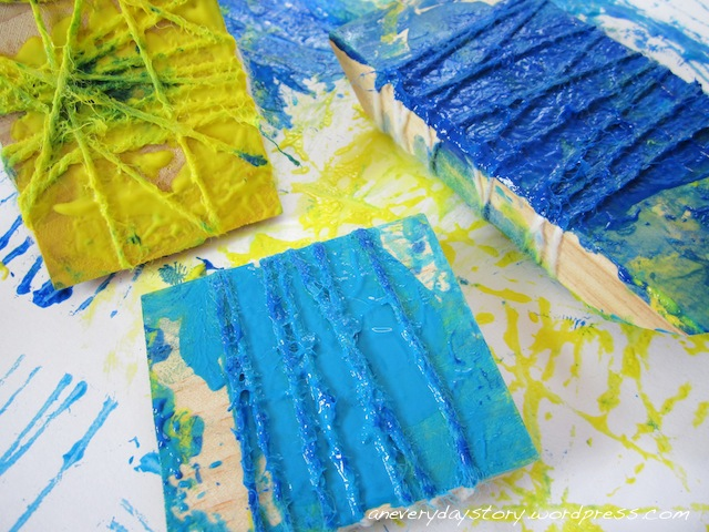 Art with Children: Wool Block Printing