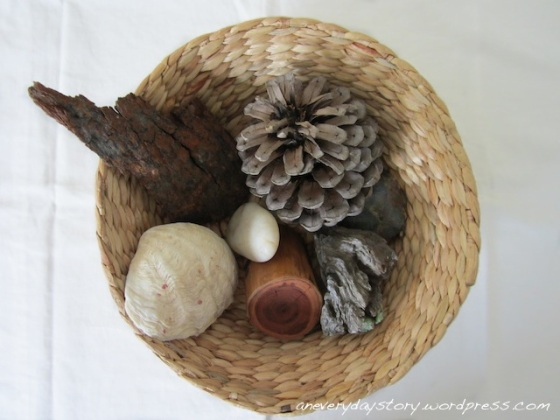 Montessori Nature Discovery Bakset: Sensory Exploration for Babies