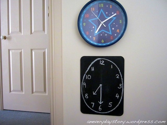 A New Bedtime Routine: The Chalkboard Clock