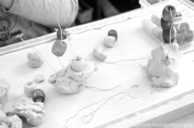 Reggio: Using Clay – Wire and Bead Sculptures
