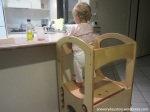 montessori learning tower toddler 14 months in the kitchen