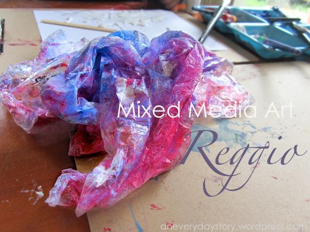 Reggio: Mixed Media Art – Exploring with PlasticWrap