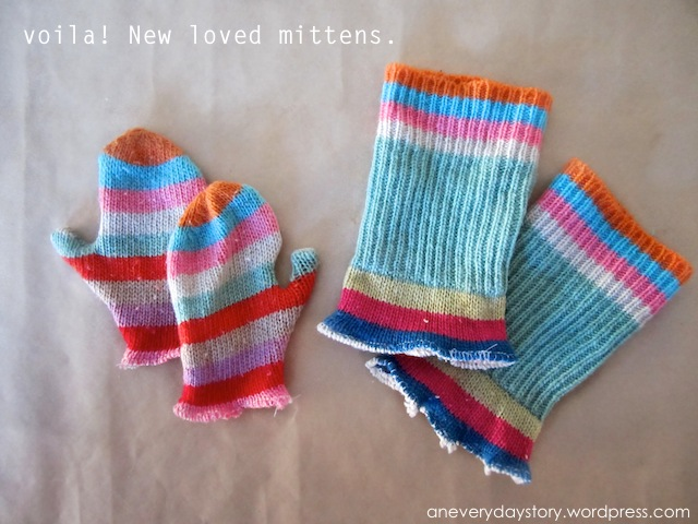 Repurposed Mittens & Leg Warmers