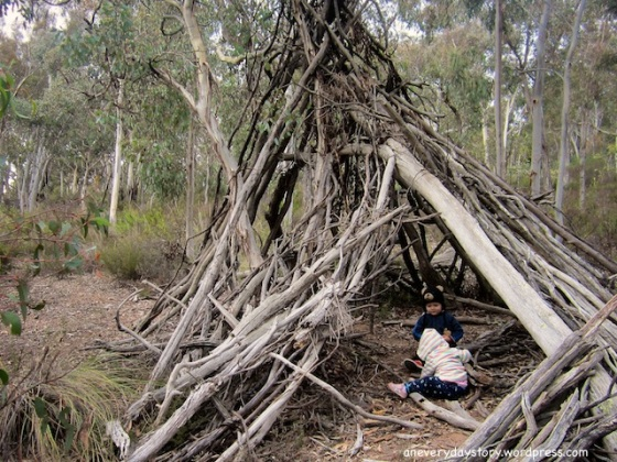 spending time in nature free unscheduled unstructured play 6 natural teepee