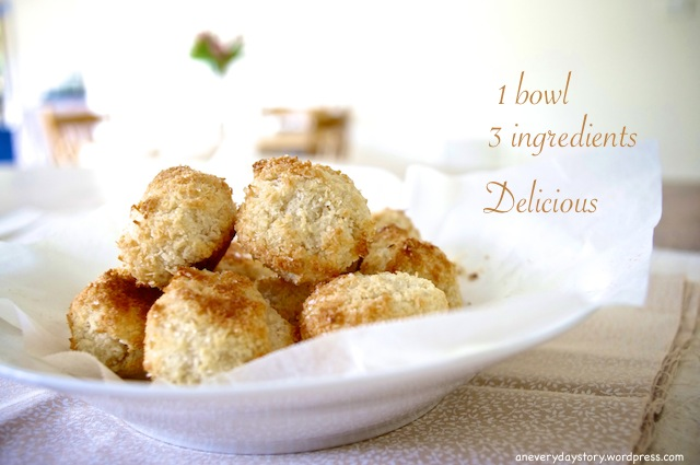 One Bowl, Three Ingredients: Coconut Macaroons