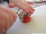 montessori practical life activities for preschoolers in the kitchen cutting using a crinkle cutter