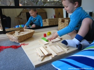 reggio emilia at home using blocks and mirrors