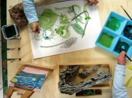 Reggio art activities - finding art in nature - Van gogh Starry Night {An Everyday Story}