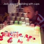 building with cups on the OHP {An Everyday Story}