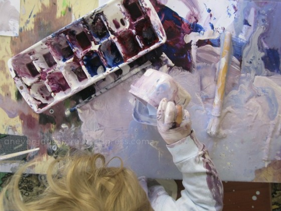 Painting with Toddlers {An Everyday Story}