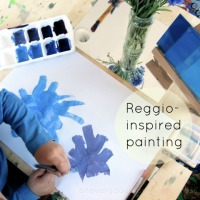 Setting up a Reggio-inspired Painting Activity at Home