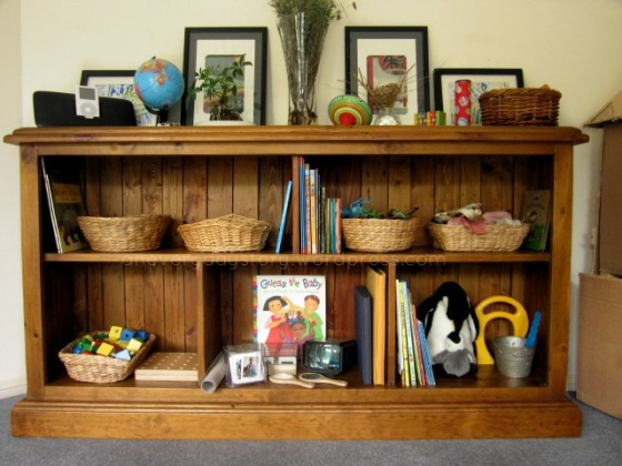 Reggio playroom shelves {An Everyday Story}