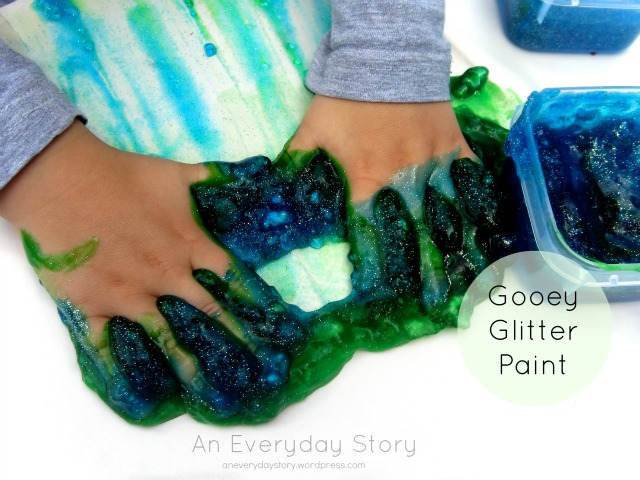 A New Art Experience: Gooey Glitter Paint