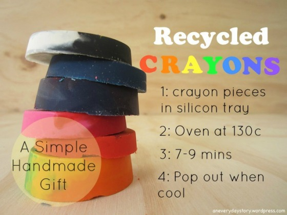 how to make new crayons from crayon stubs