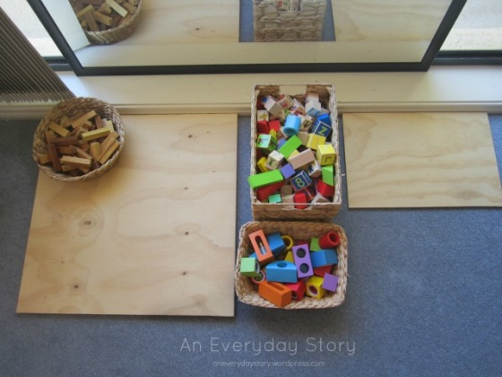 Block corner in a Reggio playroom