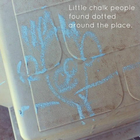 Drawing outside with chalk - An Everyday Story