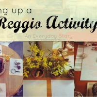 Setting up a Reggio-inspired Activity