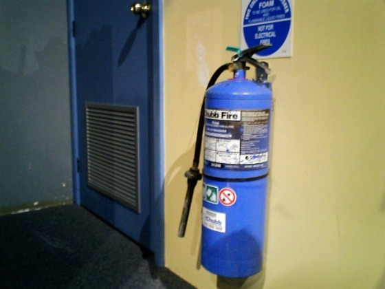 Jack's photo of the blue fire extinguisher