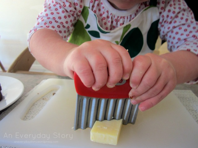 Montessori practical life activities for toddlers - preparing meals - An Everyday Story