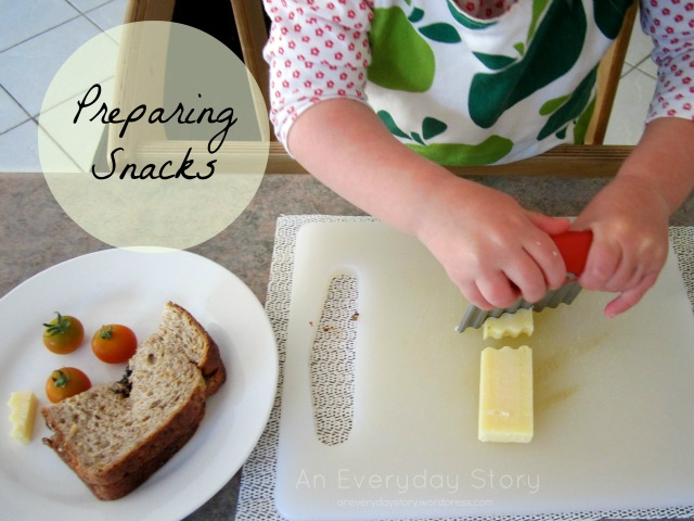 The Worried Cheese – Preparing snacks at 21months