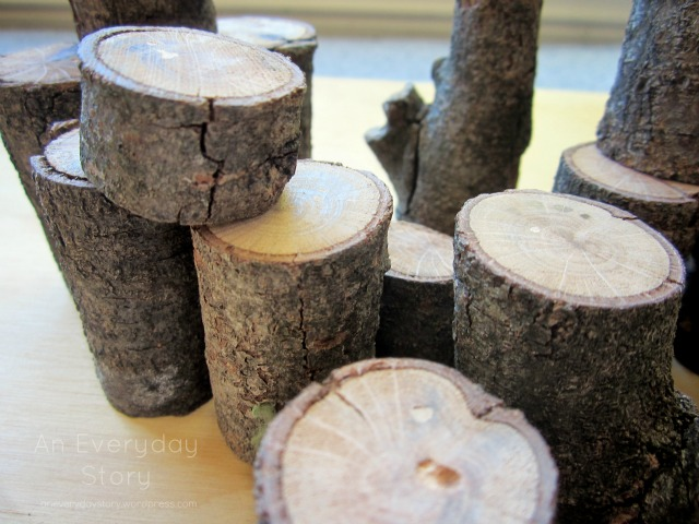 Natural tree blocks - Weekend Project - An Everyday Story