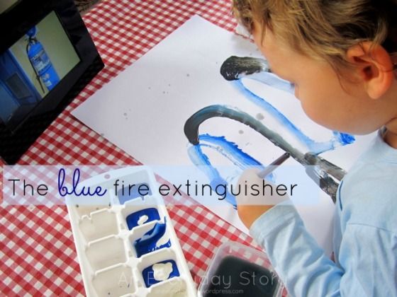 The Blue Fire Extinguisher - Observational Painting