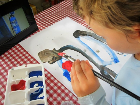 Observational Painting - Looking for details - An Everyday Story