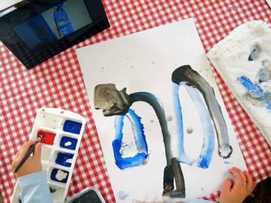 Observational Painting - The Fire Project - An Everyday Story
