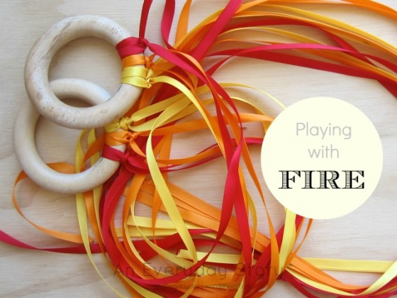 Playing with Fire - Whimsical fire ribbons from An Everyday Story
