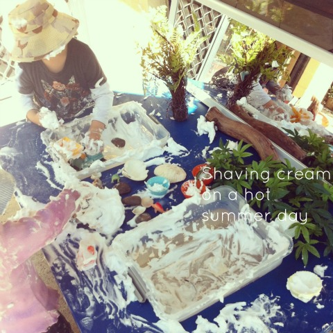 Playing with shaving cream - An Everyday Story