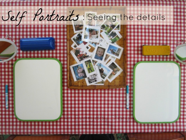 Reggio activities - self portraits from An Everyday Story