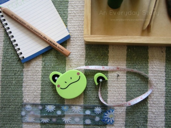 Reggio math - setting up a measuring activity from An Everyday Story