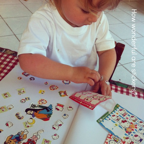 Stickers for fine motor practice