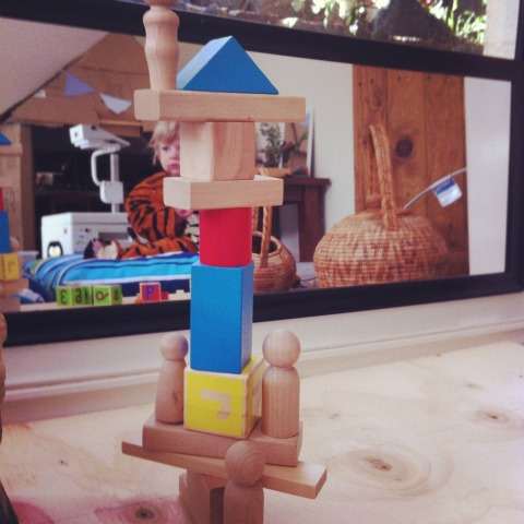 building with blocks - reggio block corner - An Everyday Story