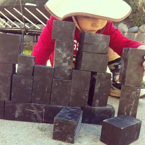 Building with chalkboard blocks - An Everyday Story