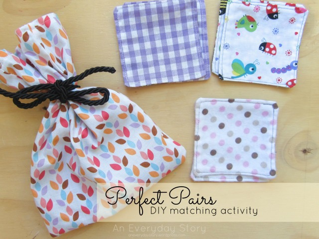 DIY matching activity for toddlers - An Everyday Story