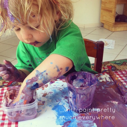 Exploring paint freely - An Everyday Story
