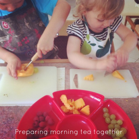 Montessori Practical Life - preparing snacks - An Everyday Story
