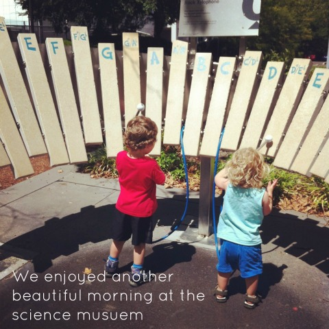Outdoor stone xylophone - National Science Museum - An Everyday Story