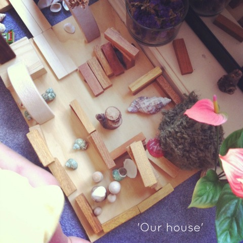 pretend play with natural materials - An Everyday Story
