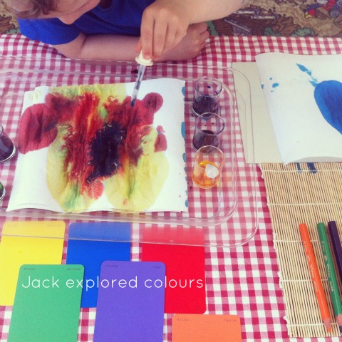 Reggio activities - colour mixing provocation - An Everyday Story