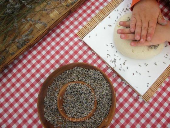 Reggio Activities - Natural Lavender Playdough