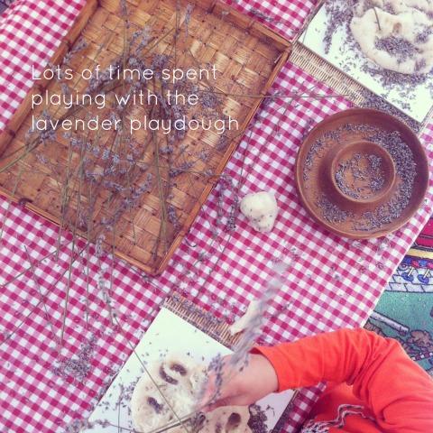 Reggio activities - Lavender playdough - An Everyday Story