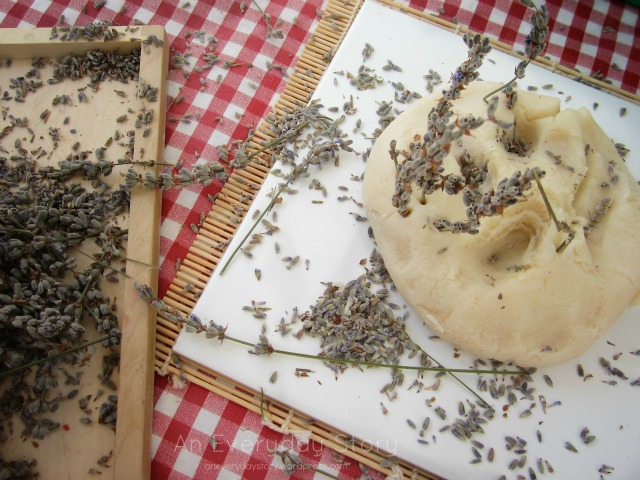 Reggio Activities - Natural Lavender Playdough