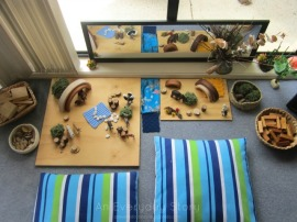 Small world play scene using natural materials from An Everyday Story