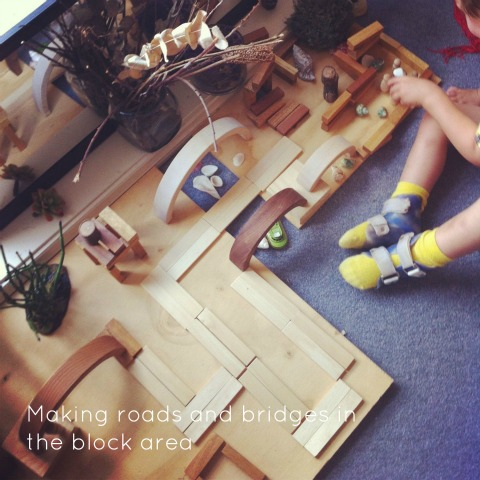 using natural materials in the block corner - An Everyday Story