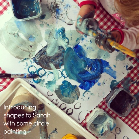 learning shapes circle painting - An Everyday Story