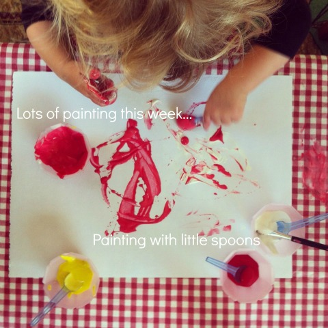 painting with spoons - An Everyday Story