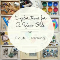 Explorations for 2 Year Olds - Playful Learning